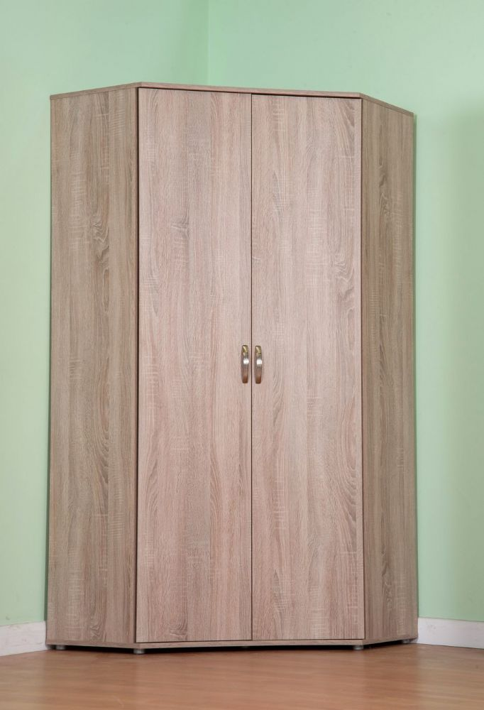 Chester Standard Corner Wardrobe, with Sonoma Light Oak Option M1170